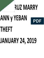 Dela Cruz Marry Ann y Yeban