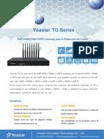 Yeastar TG Series Datasheet Es