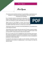 Proyecto Ejecutivo RESTAURANTE mexicano