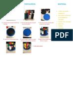 Instructivo Portalapices Material