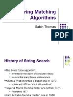 Sabin M. Thomas - String Matching Algorithms