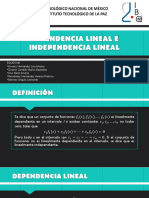 Dependencia Lineal e Independencia Lineal