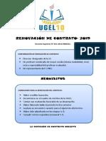 Renovación de Contrato- 2019