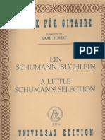 SCHUMANN Robert - A Little Schumann Selection - Guitar