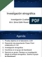 4. Investigación etnográfica