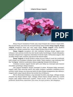 Adaptasi Bunga Anggrek