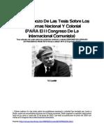 [Ap. 4] - V.I. Lenin -  Primer esbozo de las tesis sobre los problemas nacional y colonial.pdf