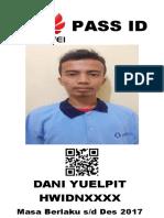 Pass Id Dani Yuelpit