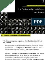 Configurações Eletrónicas Dos Átomos (1)