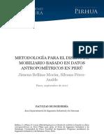 METODOLOGÍA PARA EL DISEÑO de MOBILIARIio Basado en Datos Antropometricos Peru
