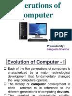 Generation of Computers _Sangeeta Sharma