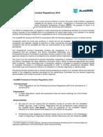 Professional Conduct Regulations 2019
