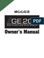 MOOER GE200 MANUAL usuario