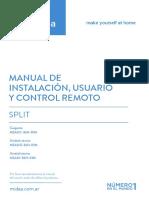 Manual Aire Acondicionado Midea Msauc-36h-00m-1