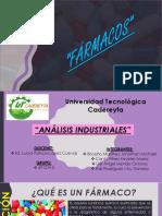 Fármacos Análisis Industriales Unidad 1