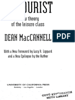 Dean MacCannell - The Tourist. a New Theory of the Leisure Class