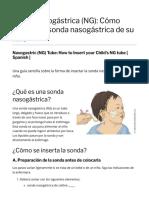 Sonda Nasogástrica (NG)_ Cómo Insertar La Sonda Nasogástrica de Su Niño