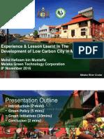 04 Development of Low Carbon City in MELAKA