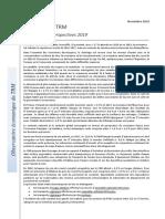 Les Couts Du TRM - Bilan-2018 Et Perspectives 2019 - Transport Routier - CNR - Charges Exploitation