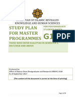 Study Plan for Master Programmes 2017 (1)