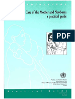 sampul who postpartum care for mother and newborn