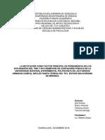 INFORME MOTIVACION Al LOGRO DE LOS ESTUDIANTES DEL 7MO Y 8VO SEMESTRE DE CONTADURÍA PÚBLICA DE LA UNIVERSIDAD NACIONAL EXPERIMENTAL POLITÉCNICA DE LAS FUERZAS ARMADAS (UNEFA)