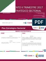 Informe 2do Trimestre Plan Sectorial 2017