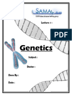 Genetics, Lecture 8 (Lecture Notes)