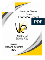 Temario Educacion Especial 2017