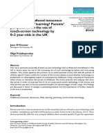 A Threat to Childhood Innocence or the Future of Learning- Parents' Perspectives on the Use of Touch-screen Technology by 0–3 Year-olds in the UK