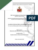 CRISTÓVÃO 2016 a Aplicação Da Ótica Económica Na PSP Ocaso Das Operações de Fiscalização de Trânsito