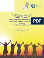 """The Effectiveness of the """"WE Stand Programme for Female Migrant Workers and Ethnic Minority Women"""""""
