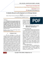 Evaluation Research on Development Level of Energy Internet