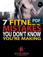 7 Fitness Mistakes You Don't Know You'Re Making