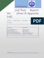 Industrial Tour Report(JEWEL -MANAGEMENT-CU)