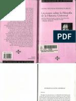 Hegel Lecciones Filsofia de La Historia