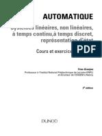 Automatique - Systémes Linéaires Et Non Linéaires