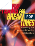 Dearborn,.Breakthrough Teams for Breakneck Times - Unlocking the Genius of Creative Collaboration.[2001.ISBN0793142733]