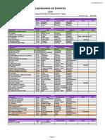 Calendario FEFF 2019