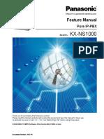 Panasonic KX NS1000 Feature Manual