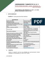 Informe de Ejecución Forestal ASERRADERO TARAPOTO SAC