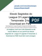Ebook  Segredos do  League Of Legends 9 Temporada【Download em Pdf】