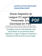 Ebook  Segredos do  League Of Legends 9 Temporada【Download em Pdf】