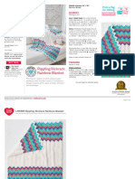 Rippling Rickrack Rainbow Blanket Crochet Pattern