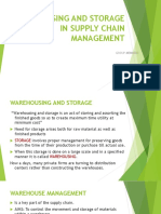 WAREHOUSING AND STORAGE IN SUPPLY CHAIN MANAGEMENT