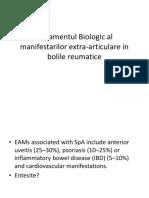 tratamentul biologic al manifestarilor extraarticulare in bolile reumatologice