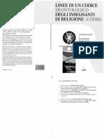 Linee Di Un Codice Deontologico Degli Insegnanti Di Religione