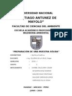 PREPARACIÓN DE UNA MUESTRA SÓLIDA2010
