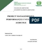 Managementul Performantei Unitatii Agricole