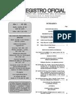 Registro Oficial No. 235 Del 29 de Abril Del 2014